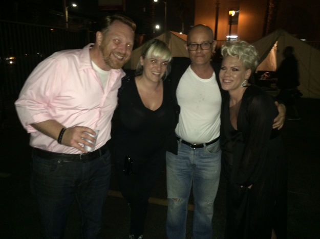 Kevin Allison, me, Todd Holoubek and Pink!!!